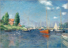 Galleritryk  Red boats at Argenteuil - Claude Monet