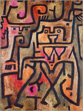 Selvklæbende plakat  Forest witches - Paul Klee