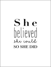 Galleritryk  She believed she could so she did - Finlay and Noa