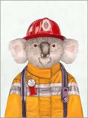 Galleritryk  Koala Firefighter - Animal Crew