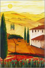 Galleritryk  Tuscan idyll 3 (brighter) - Christine Huwer