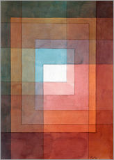 Galleritryk  White framed polyphonically - Paul Klee