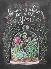 Selvklæbende plakat  Home is Wherever I'm with You - Lily & Val