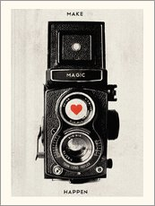 Selvklæbende plakat  Vintage camera - Make Magic Happen - Nory Glory Prints