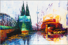 Galleritryk  Cologne Cathedral Skyline - Renate Berghaus