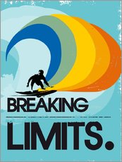 Selvklæbende plakat  Surfer, Breaking limits - 2ToastDesign