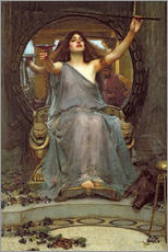 Selvklæbende plakat  Circe Offering the Cup to Ulysses - John William Waterhouse
