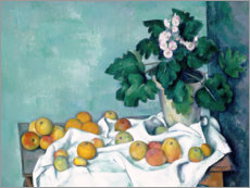 Premium-plakat Still Life with Apples and a Pot of Primroses