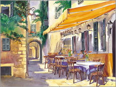 Galleritryk  Cafe Provence - Paul Simmons