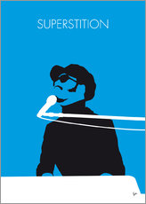 Galleritryk  Superstition - Stevie Wonder Minimal Music poster - chungkong