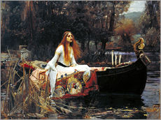 Selvklæbende plakat  The Lady of Shalott - John William Waterhouse