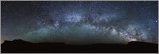 Selvklæbende plakat Panoramic of the Milky Way arch, United States