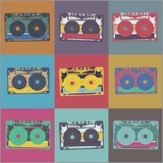 Galleritryk  colorful cassettes