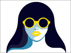 Galleritryk  Glam girl with rounded sunglasses - Sasha Lend