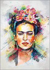 Selvklæbende plakat  Frida Flower Pop - Tracie Andrews