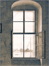 Galleritryk  View from the studio - Caspar David Friedrich
