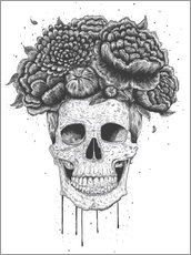 Galleritryk  Skull with flowers - Valeriya Korenkova