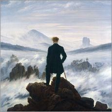 Galleritryk  Vandreren over tågehavet - Caspar David Friedrich