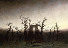 Galleritryk  The Abbey in the Oakwood - Caspar David Friedrich