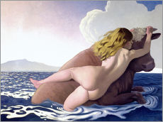 Selvklæbende plakat  The Abduction of Europa - Felix Edouard Vallotton