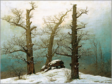 Galleritryk  Megalithic grave in the snow - Caspar David Friedrich