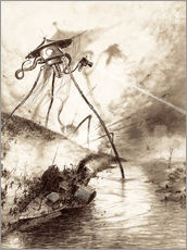 Galleritryk  Martian Fighting Machine in the Thames Valley - Henrique Alvim Correa