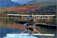 Selvklæbende plakat  Seaplane in Purpoise Bay, Canada - HADYPHOTO