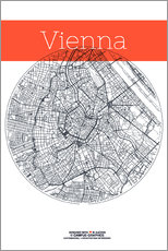 Selvklæbende plakat  Vienna Map County - campus graphics
