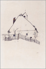 Galleritryk  House with Bell Tower - Egon Schiele