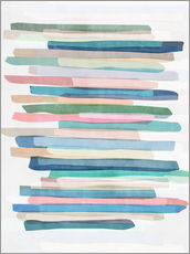 Galleritryk  Pastel Stripes 1 - Mareike Böhmer Graphics