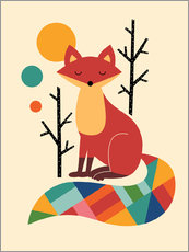 Selvklæbende plakat  Rainbow Fox - Andy Westface