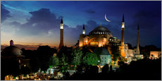 Galleritryk  View of Hagia Sophia after sunset