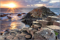 Galleritryk  Sunset at Giant s Causeway