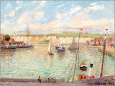 Galleritryk  The Outer Harbour, Dieppe on a Bright Afternoon - Camille Pissarro