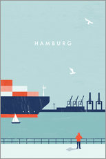 Galleritryk  Hamburg - Illustration Hamborg - Katinka Reinke