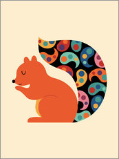 Selvklæbende plakat  Paisley Squirrel - Andy Westface