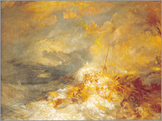 Selvklæbende plakat  A Disaster at Sea - Joseph Mallord William Turner