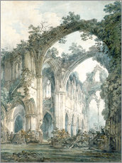 Selvklæbende plakat  Inside of Tintern Abbey, Monmouthshire - Joseph Mallord William Turner