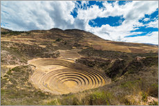 Galleritryk  The archaeological site at Moray, travel destination in Cusco region and the Sacred Valley, Peru. - Fabio Lamanna