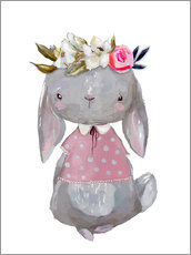 Selvklæbende plakat  Summer bunny with flowers in her hair - Kidz Collection