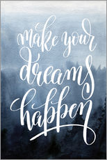 Galleritryk  Make your dreams happen - Typobox