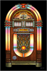 Galleritryk  Vintage Jukebox - Michael Fishel