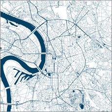 Galleritryk  City map of Dusseldorf - 44spaces