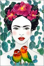 Galleritryk  Frida's lovebirds - Mandy Reinmuth