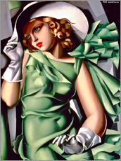 Selvklæbende plakat  Young lady with gloves - Tamara de Lempicka