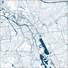 Galleritryk  City map of Hannover - 44spaces