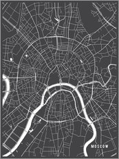 Galleritryk  Moscow Russia Map - Main Street Maps