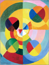 Akrylbillede  Rhythm, joy of life - Robert Delaunay
