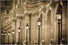 Galleritryk  Lamp posts and columns at Louvre - age fotostock