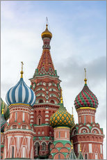Selvklæbende plakat  St. Basil's Cathedral at Red Square in Moscow - Click Alps